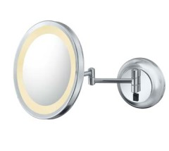 Magnified Makeup Mirrors with Switchable Light