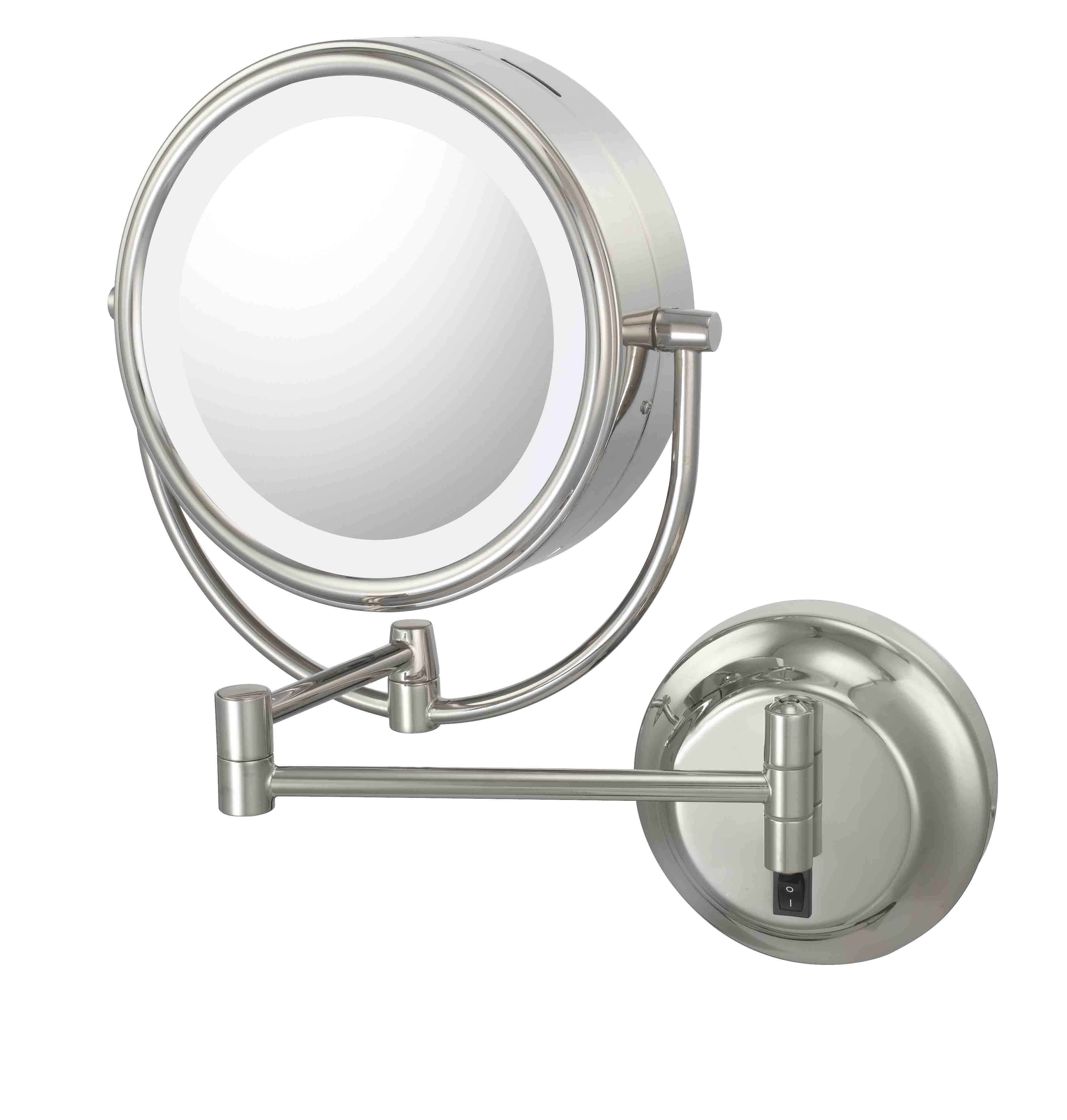 92545hw jpg products aptations square led lighted single sided magnified makeup wall mirror