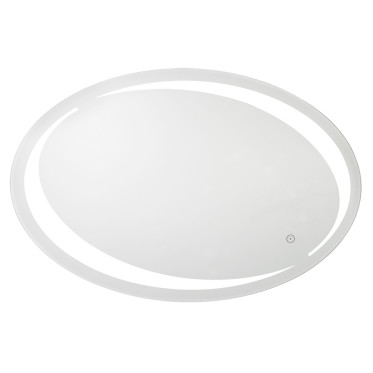 Oval LED lighted vanity mirror with tunable light color