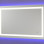 NeoClassic Rectangular Large LED Lighted Vanity mirror with blue wall glow