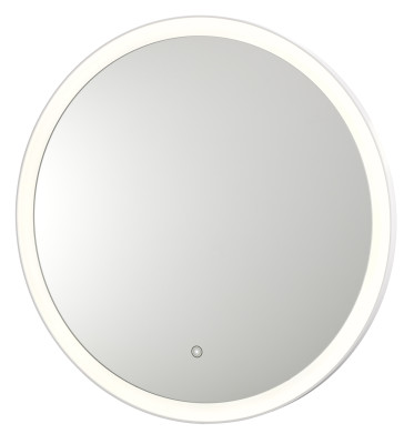 "Round 32"" diameter vanity mirror"