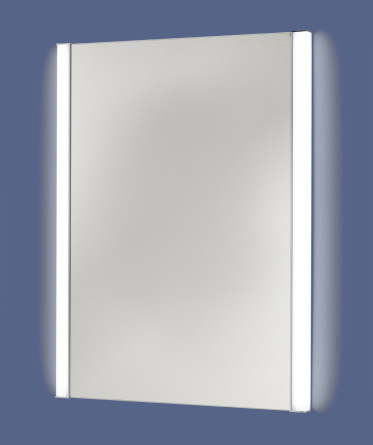 Rectangular LED lighted vanity mirror with tunable side lights