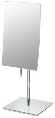 Rectangular 3X minimalist freestanding magnifying makeup mirror