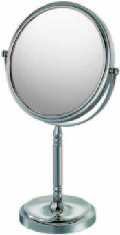 Double-sided 10X/1X freestanding magnifying mirror