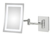 Contemporary Rectangular Switchable Magnifying Makeup Mirror