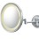 Round single-sided 5X magnified wall mirror with switchable light color