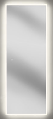"""Large 63""""x24"""" rectangular LED lighted vanity mirror with tunable light color"""